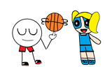 mantu and bubbles playing basketball pc by CherryPinkCece99
