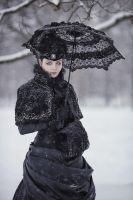 Victorian Winter Gothic Gown by BlackMart