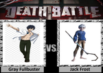 Death Battle - Gray Fullbuster VS Jack Frost by roxan1930