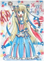 Happy Independence Day! by MikiArtSpadeMagic