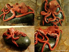 Octopus Sculpture by AllyXCat3