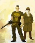 Punisher and Rorschach Team-Up by ninjaink