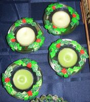 Clay christmas votive holders by ladytech