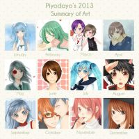 2013 Art Summary by piyodayo