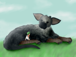 Trico and the kid Jack by Yzza-Bel