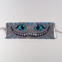Cheshire Cat Beaded Wrist Cuff by CarrieBea