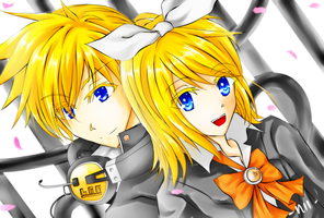 Kagamine School by MangAniMania