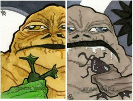 Star Wars Chrome Perspectives - Jabba the Hutt by 10th-letter