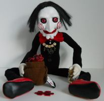 Billy the artful Saw Doll by GhoulieDollies