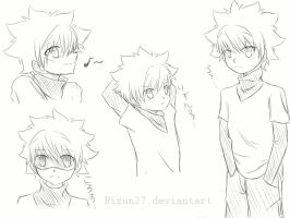 Killua Sketches... by Rizun27