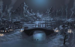 Bridge in winter by Fel-X