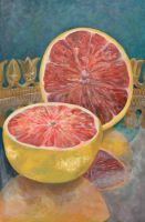 Grapefruit Still Life by suzannasketch