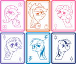 Mane Six Cards by Doctor-G
