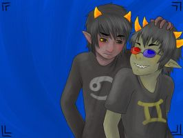Karkat x Sollux Wallpaper by Tobi--Weasel