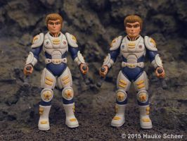 3D printed police figures comparison by hauke3000