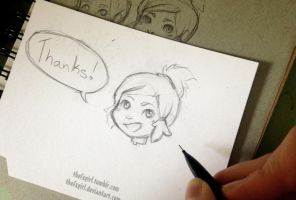 Korra Thank you Cards by ChrissaBug