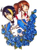 Blue Rose Love by LittleMacarons