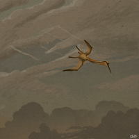 Quetzalcoatlus Pierces a Lonely Sky by KirbyniferousRegret