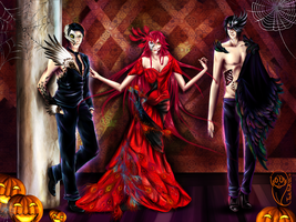 Red Enticement Halloween by TsukiNoKishi