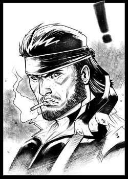 Solid Snake Sketch by elnota