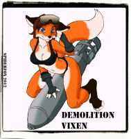 Demolition Vixen by Spiderfoxtail