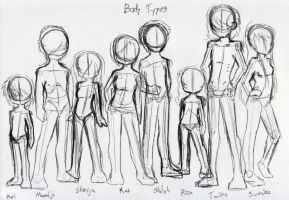 Deamon Body Types by MyaTheSquishyOctopus