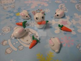 Bunny Charm Set by Pameloo