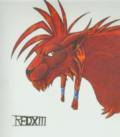 REDXIII colored by arcticfoxie