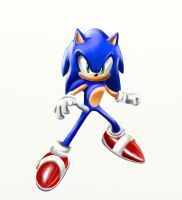 Sonic The Hedgehog Signature Painting by silversonic2000