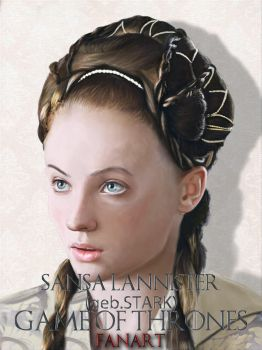 Sansa Lannister - Fan Art - Digital Painting by Trek25