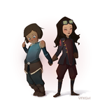 Happy Valentines!  KorraxAsami by ChrissaBug