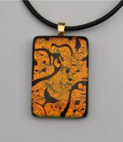 Cheetah Fused Glass Pendant by FusedElegance