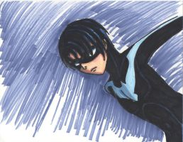 Nightwing Markers by dickiejaybird