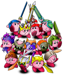 Terraria - Kirby in all Armour by AssassinKnight-47