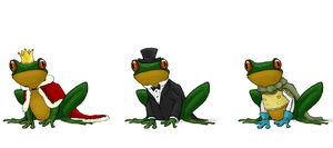 Fancy Frogs by astryn