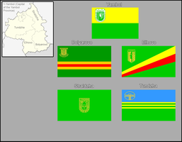 Flags and borders of the Yambol Province by DragonLlabroe