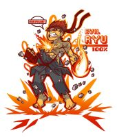 Evil Ryu T-shirt by TristanRoach