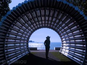 Blue sea shadow tunnel by blueMALOU