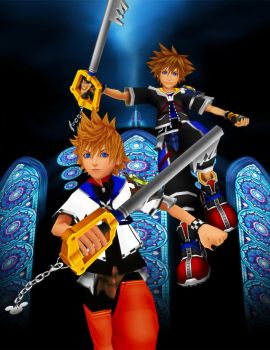 KH Reimagined Sora and Roxas Android Wallpaper by todsen19