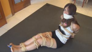 Lorena looking awesome rope tied by erokenny