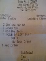 Brains on my taco bell... no thanks by KMKramer44