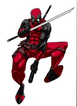 Deadpool Colored by Hybrid-7