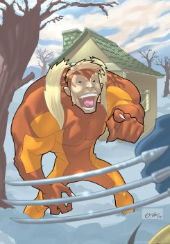 sabretooth colored by AllJeff