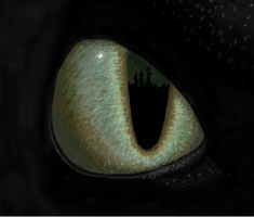 Toothless Eye by JencraMakein