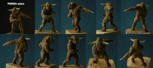 Minotaur WIP 2, 58mm by Papah-minis