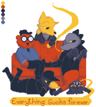 Palette #28: Night In The Woods. by Neko-daewen