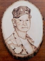 Military portrait - Wood burning by brandojones