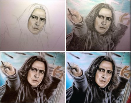 WIP - Severus Snape - The Bravest Man I Ever Knew by tanjadrawing