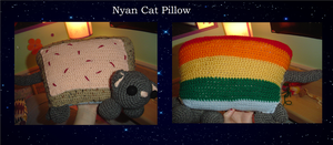 Nyan Cat Pillow by Psychodelicon