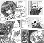 Undertale-Dark on the ground- Chapitre 1- p9 vf by Hjuju